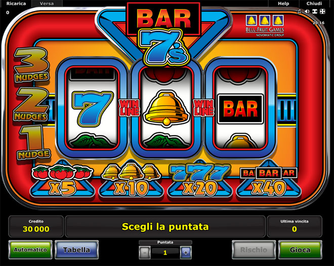 demo vlt gratis Bar Sevens