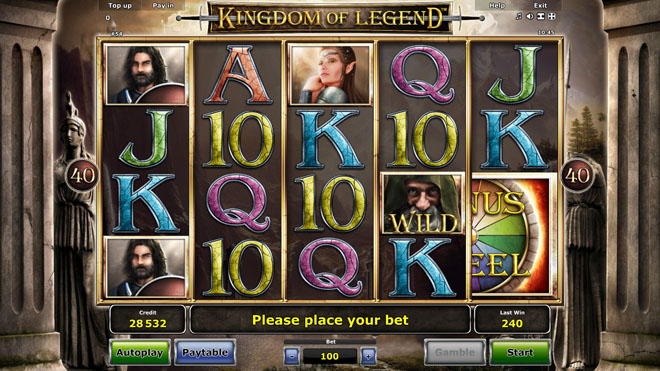 vlt Kingdom of Legend gratis