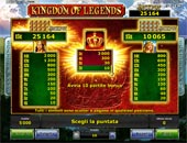 paytable vlt kingdom of legends