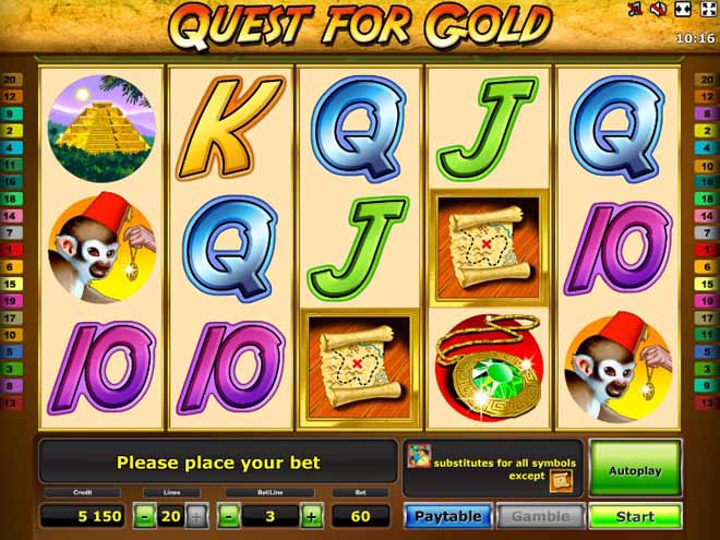 vlt gratis Quest For Gold